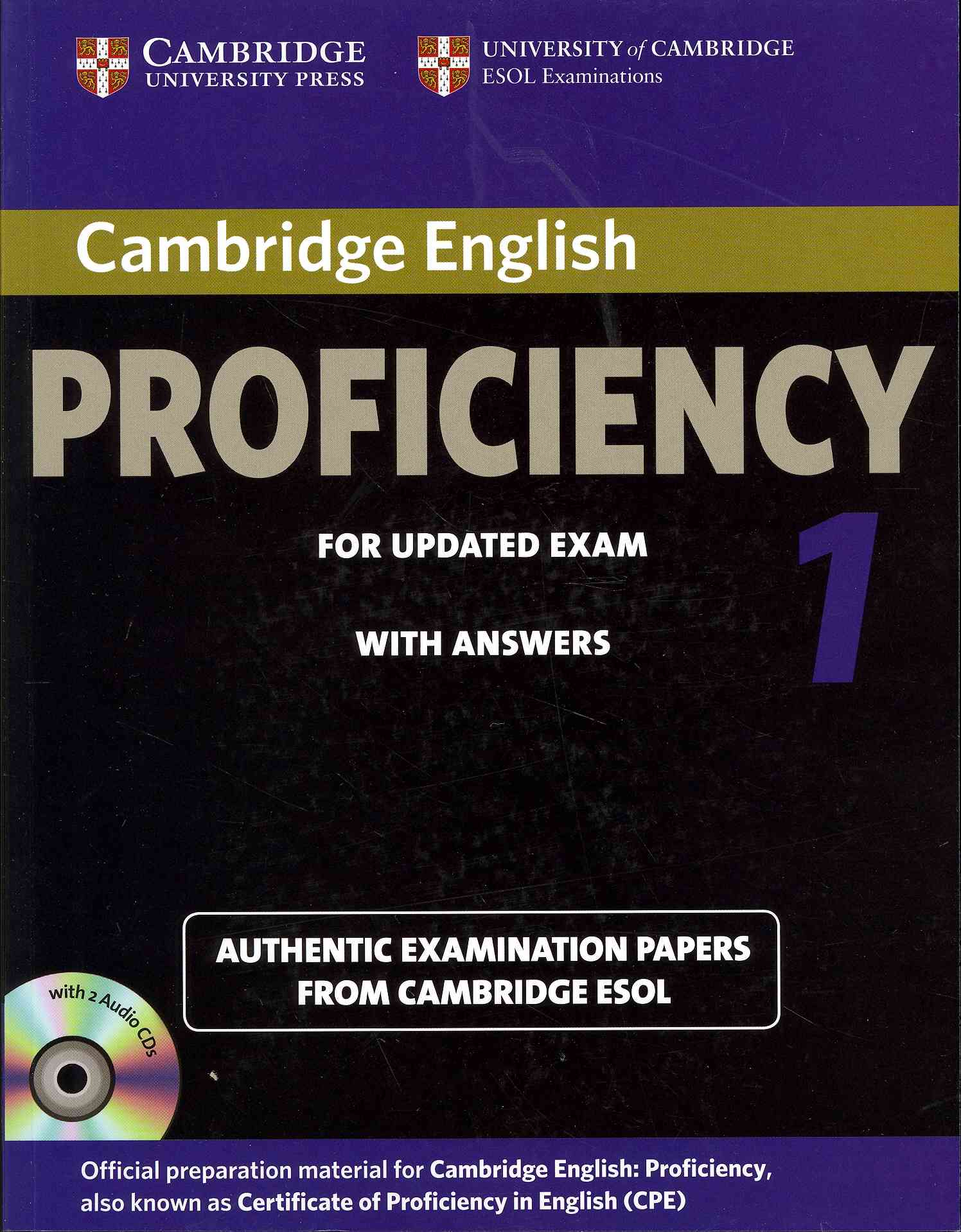Cambridge English Proficiency 1 for Updated Exam Self-study Pack - Student's Book With Answers + Audio Cds By Cambridge ESOL (COR)